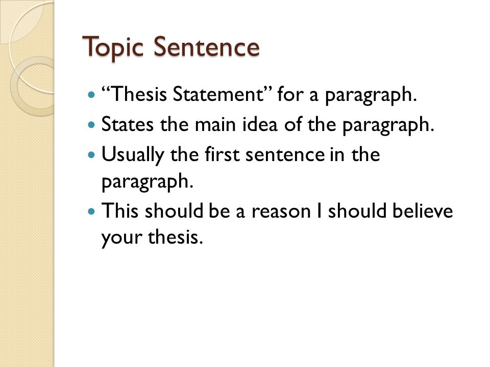 component of an essay