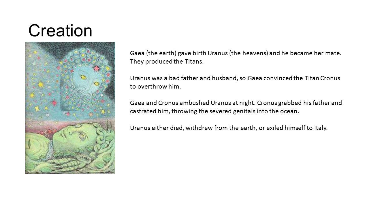 greek mythology titans and gods creation gaea the earth gave