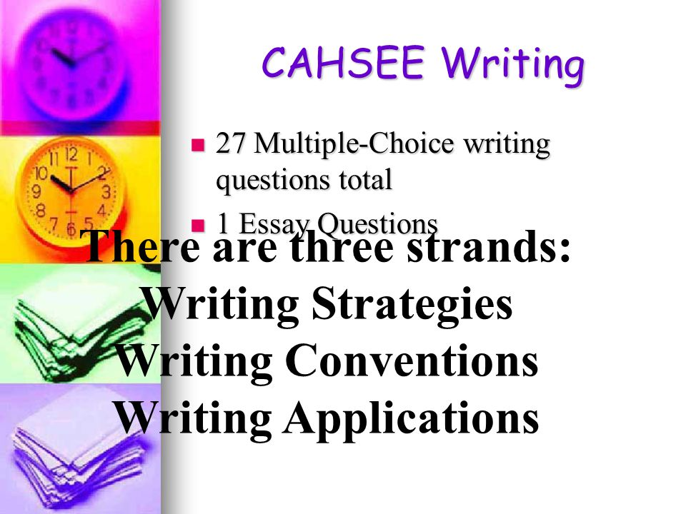 the cahsee essay