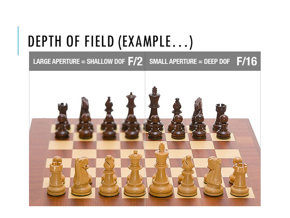 DEPTH OF FIELD (EXAMPLE…)