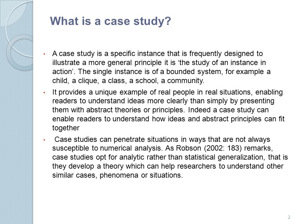 Research case