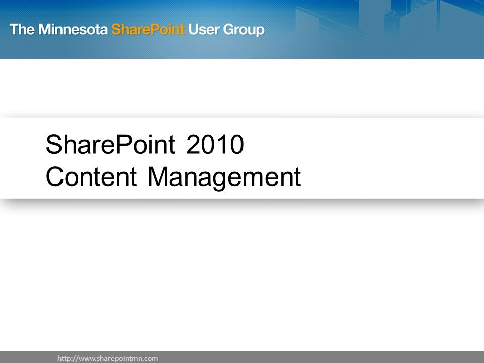 SharePoint 2010 Content Management