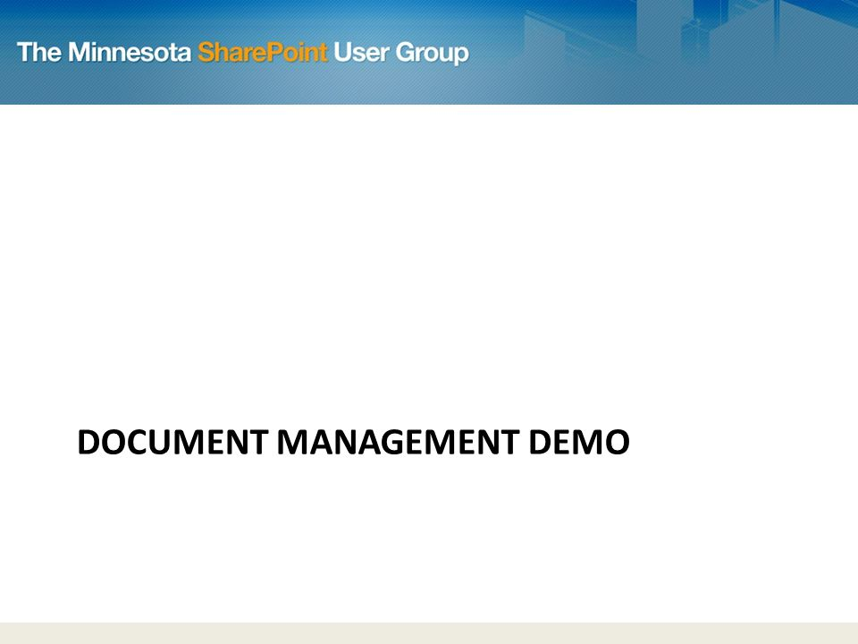 DOCUMENT MANAGEMENT DEMO