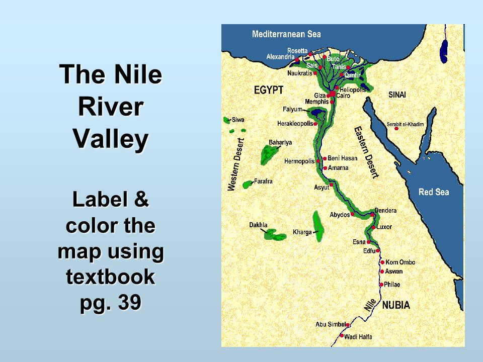 Image Gallery nile river valley