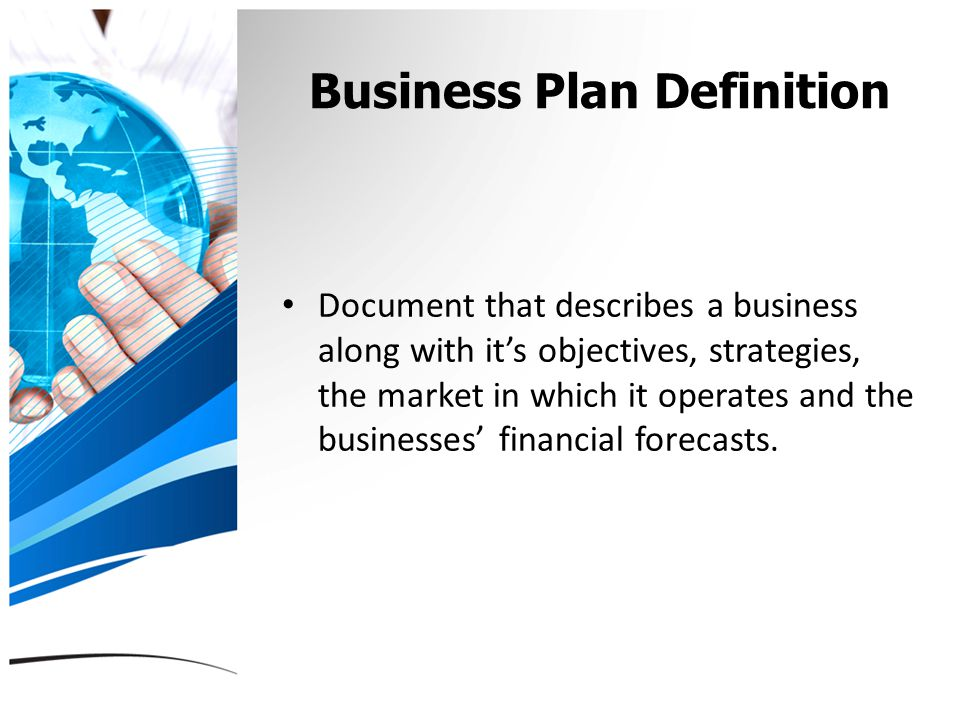 Objective of a business plan