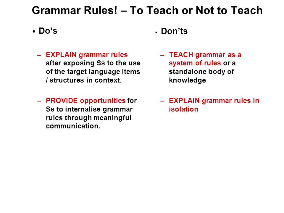 Grammar Rules.
