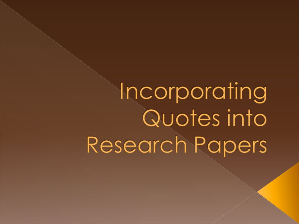 quoting in a research paper Quoting a research paper free download - writing a research paper, how to write a research paper, research paper writing help: essay writer, and many more programs.