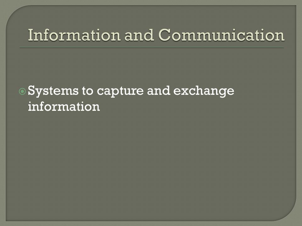  Systems to capture and exchange information