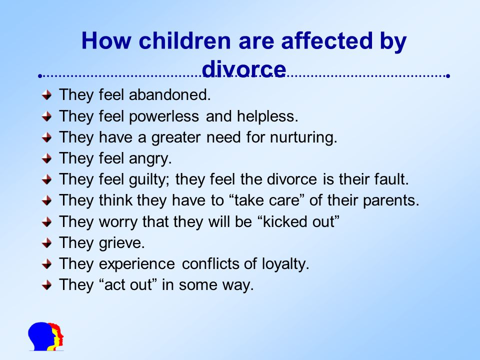 How would a divorce affect the society, economy, and the children?