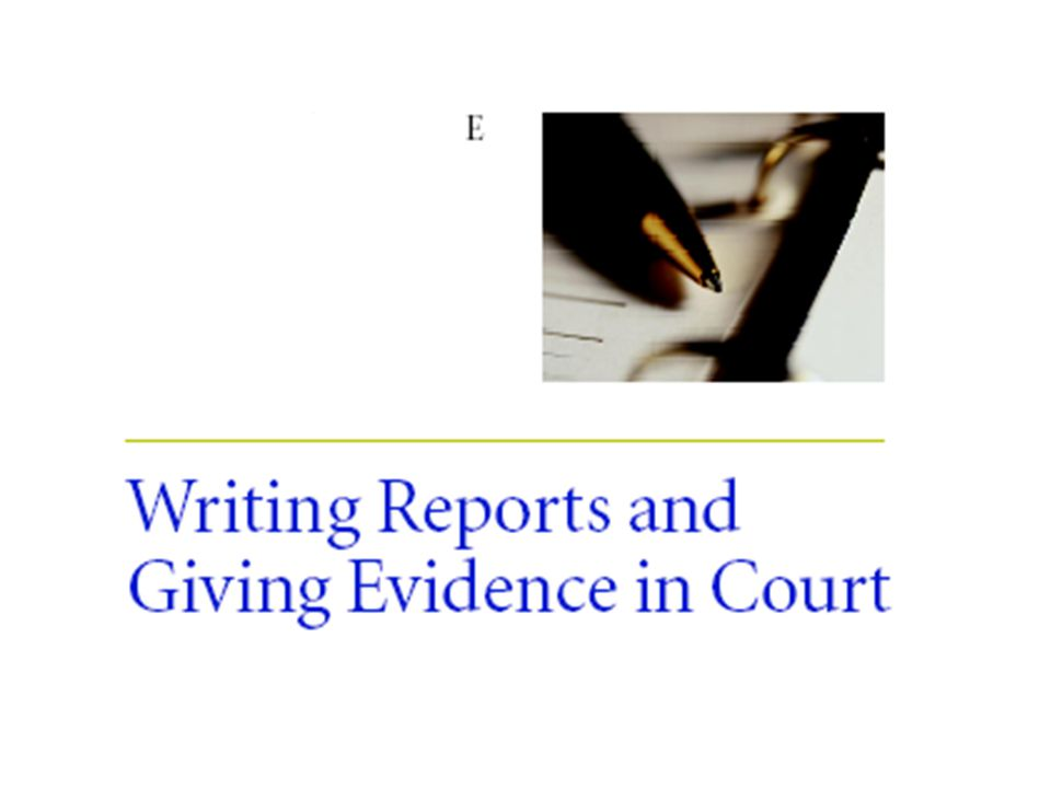 writing a court report