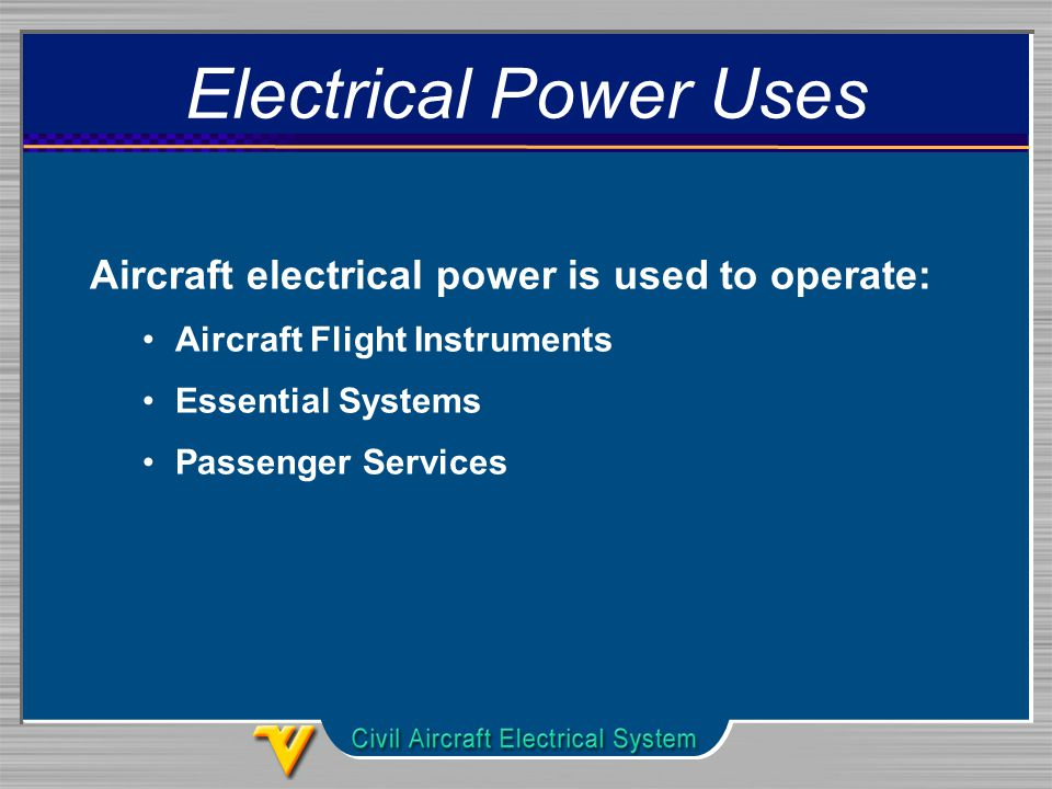 Single Line Diagram Of The Advanced Aircraft Electrical Power System