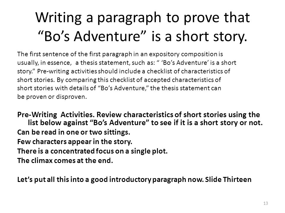 paragraph writing activities