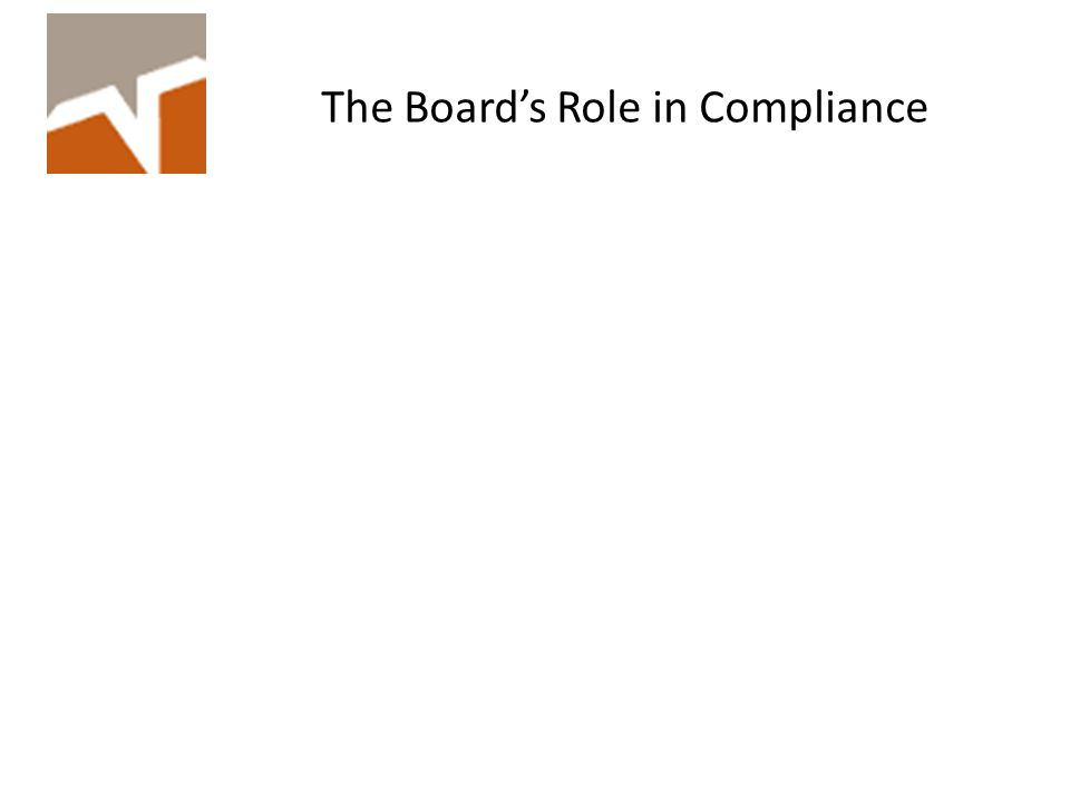 The Board's Role in Compliance