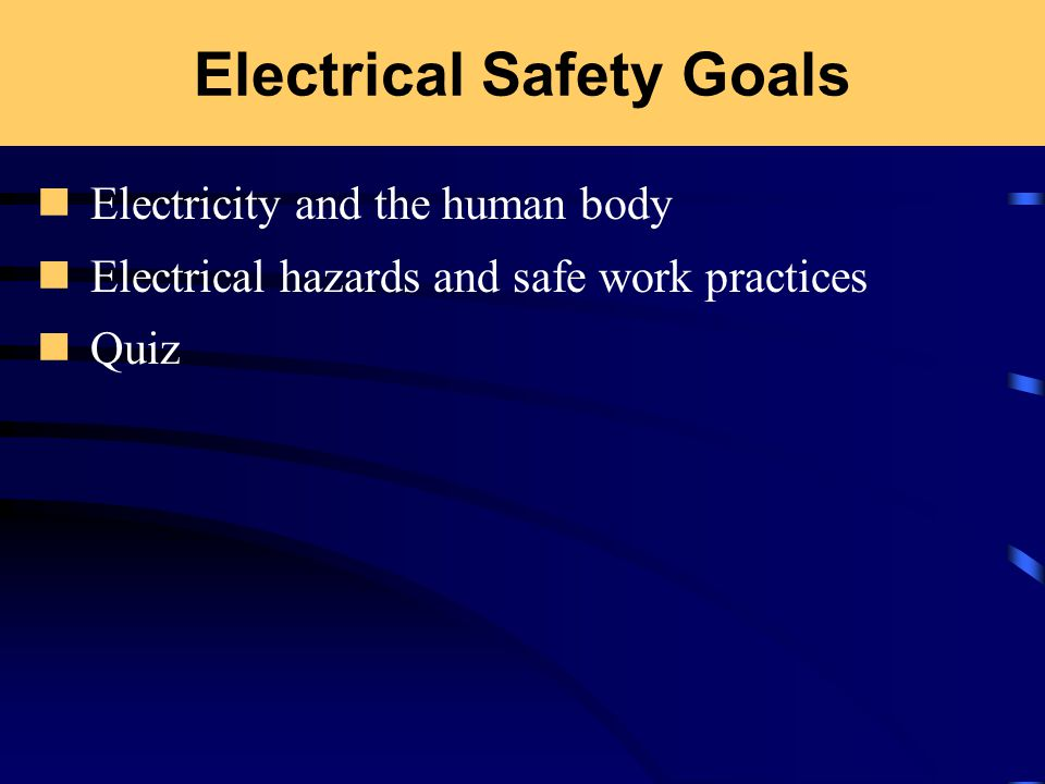 Electrical Safety 29 CFR Concerned About Electricity? How many ...