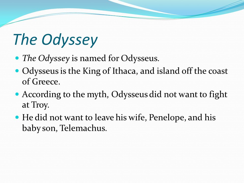 an examination of the epic poem the odyssey by homer