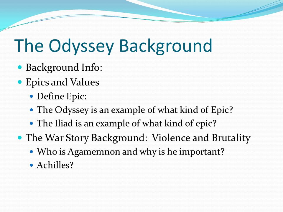 the odyssey analysis