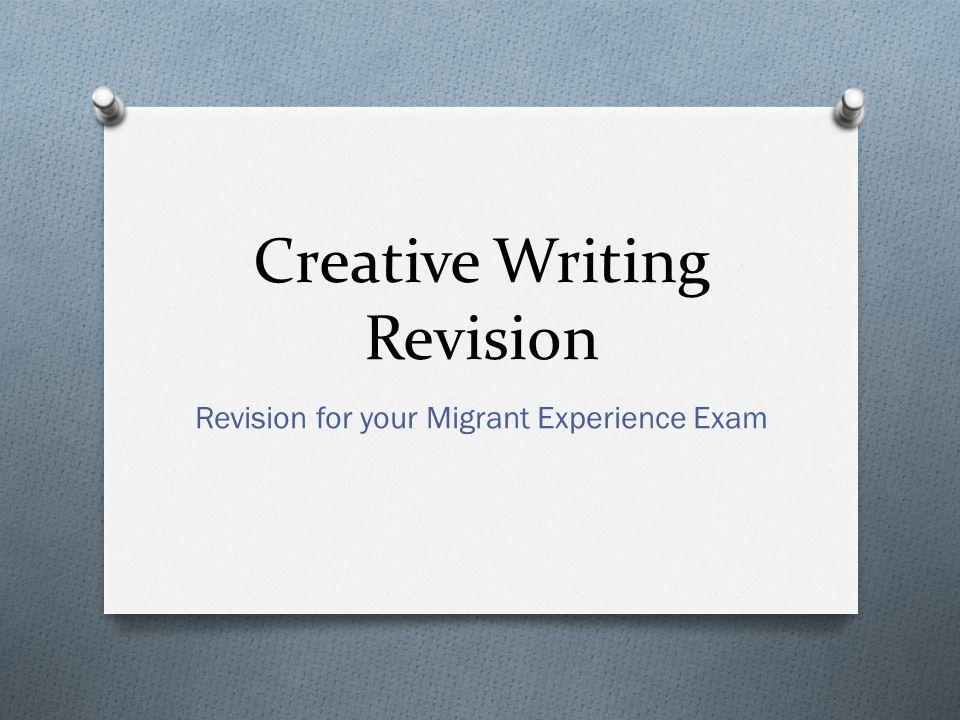 Creative writing revision