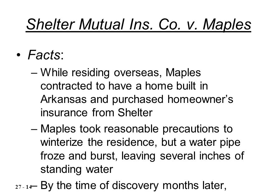 Shelter Mutual Ins. Co. v.