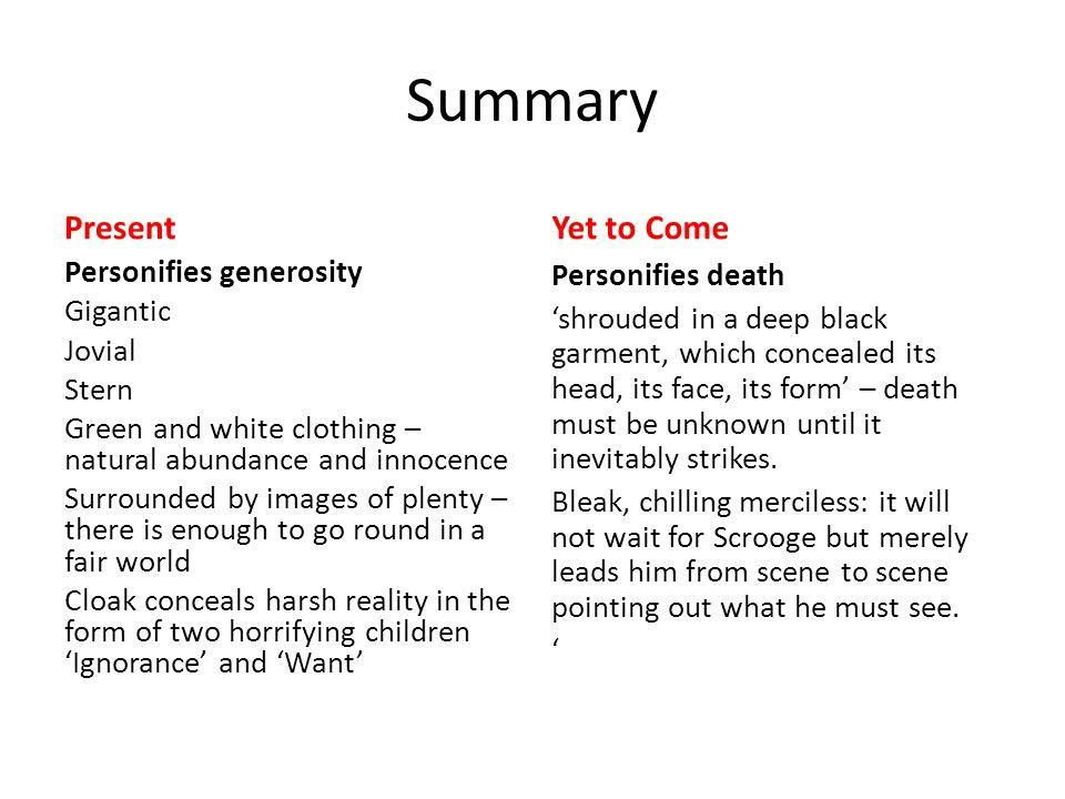 summarizing and presenting