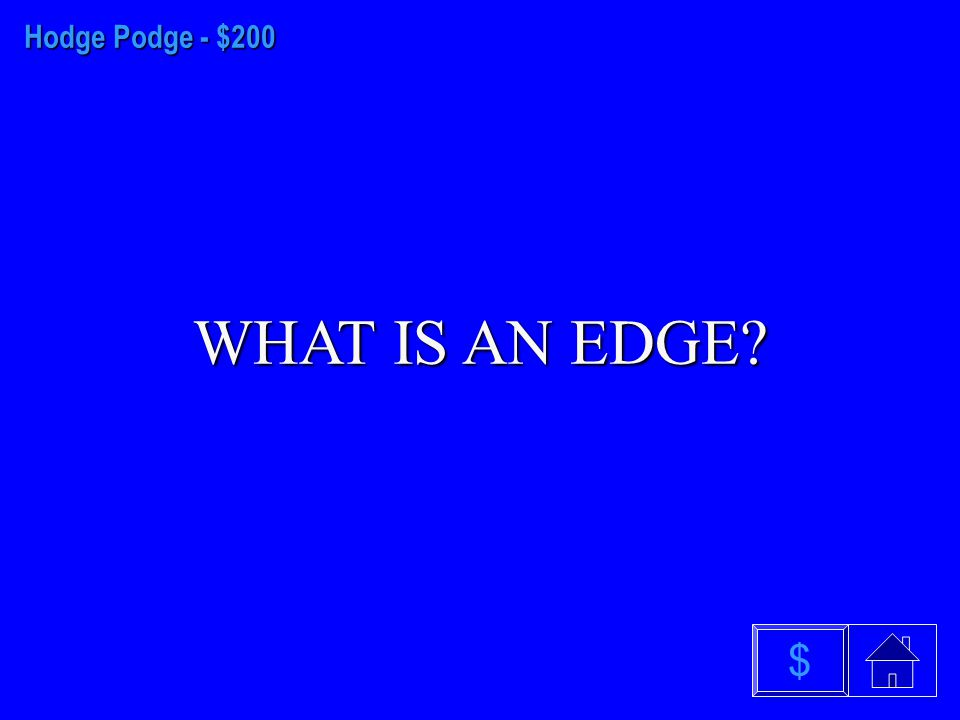 Hodge Podge - $100 WHAT IS A LINE PLOT $
