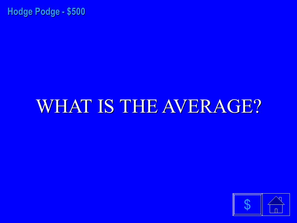 Hodge Podge - $400 WHAT IS TO ESTIMATE $