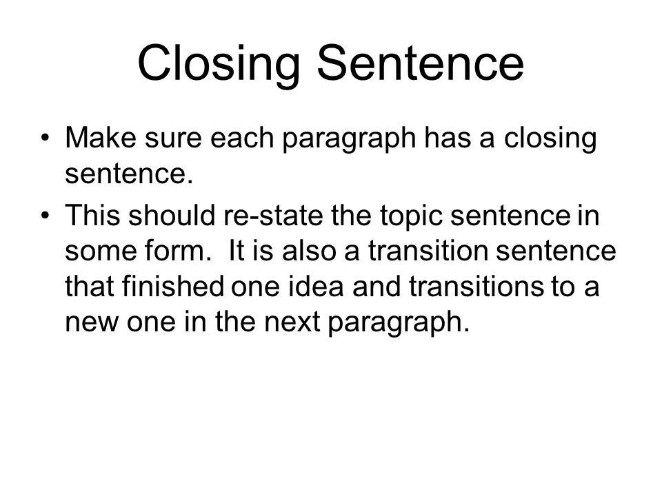 Topic Sentence Starters For Essays
