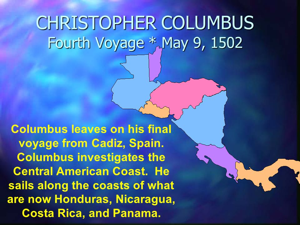 columbus letter about his fourth voyage