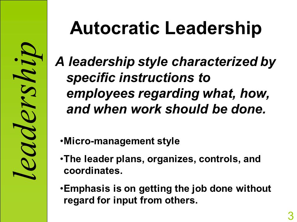 leadership styles essay It takes more than managerial skills to be an effective leader this sample essay explores tactics leaders use to accomplish short and long-term goals.