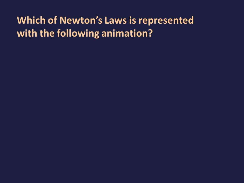 Which of Newton's Laws is represented with the following animation