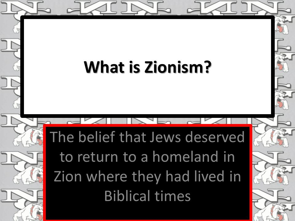 What is Zionism.