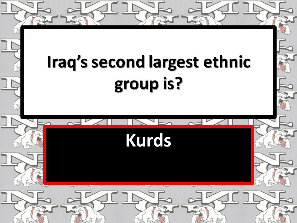Iraq's second largest ethnic group is Kurds