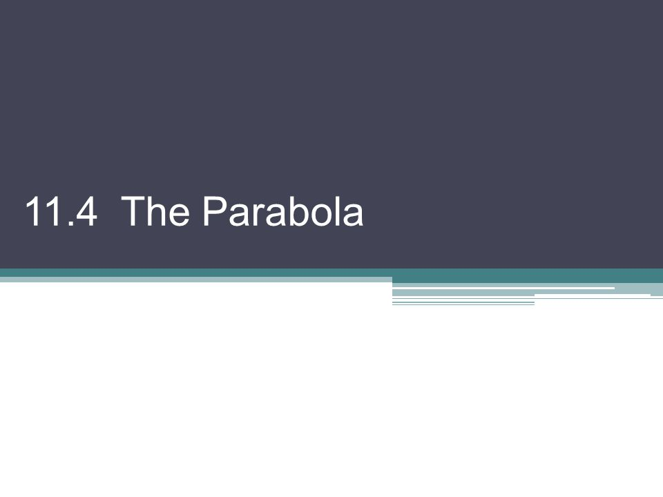 11.4 The Parabola