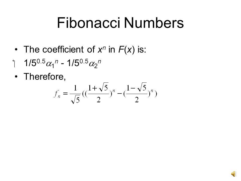 Generating Function October 21, 2014 Generating Functions Given an ...