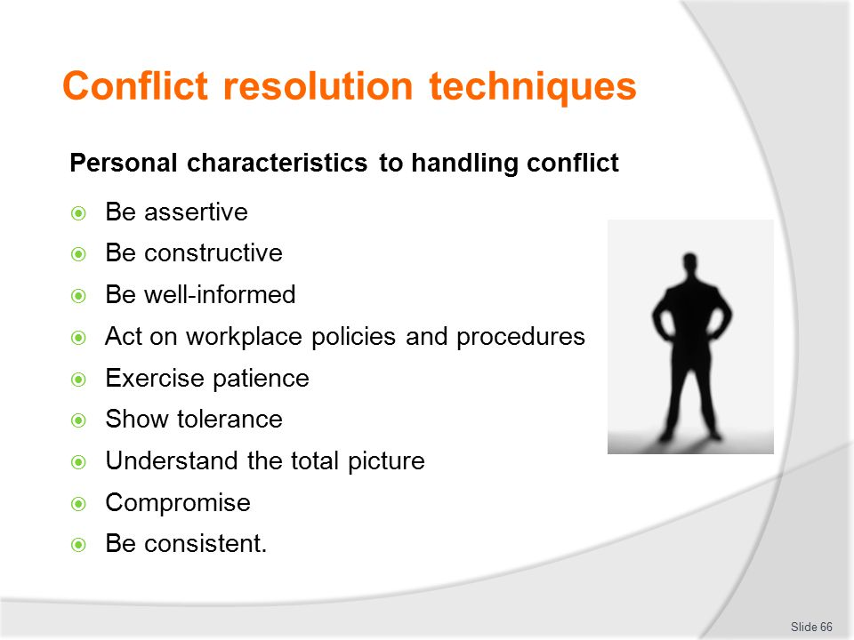 conflict resolution policies at the workplace