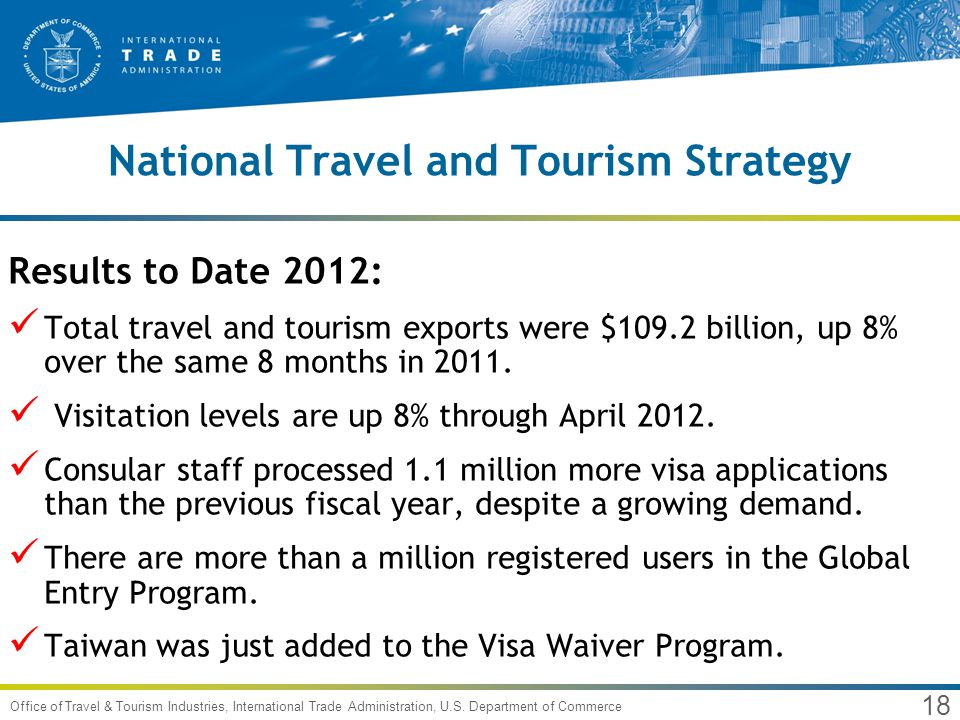 18 Office of Travel & Tourism Industries, International Trade Administration, U.S.