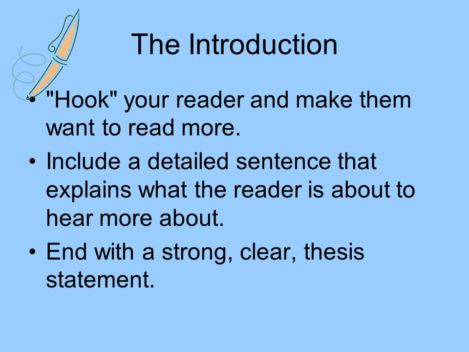 Writing a 5 Paragraph Essay Remember Paragraph 1- Introduction ...