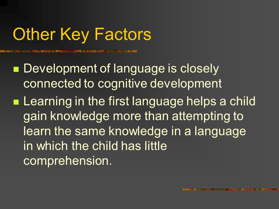 Recommendations Recognize all children are cognitively, linguistically, and emotionally connected to the language and culture of their home Acknowledge that children can demonstrate their knowledge and capabilities in many ways(diverse learning styles)