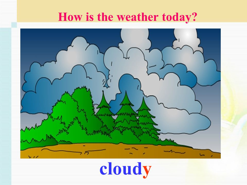 cloudy How is the weather today