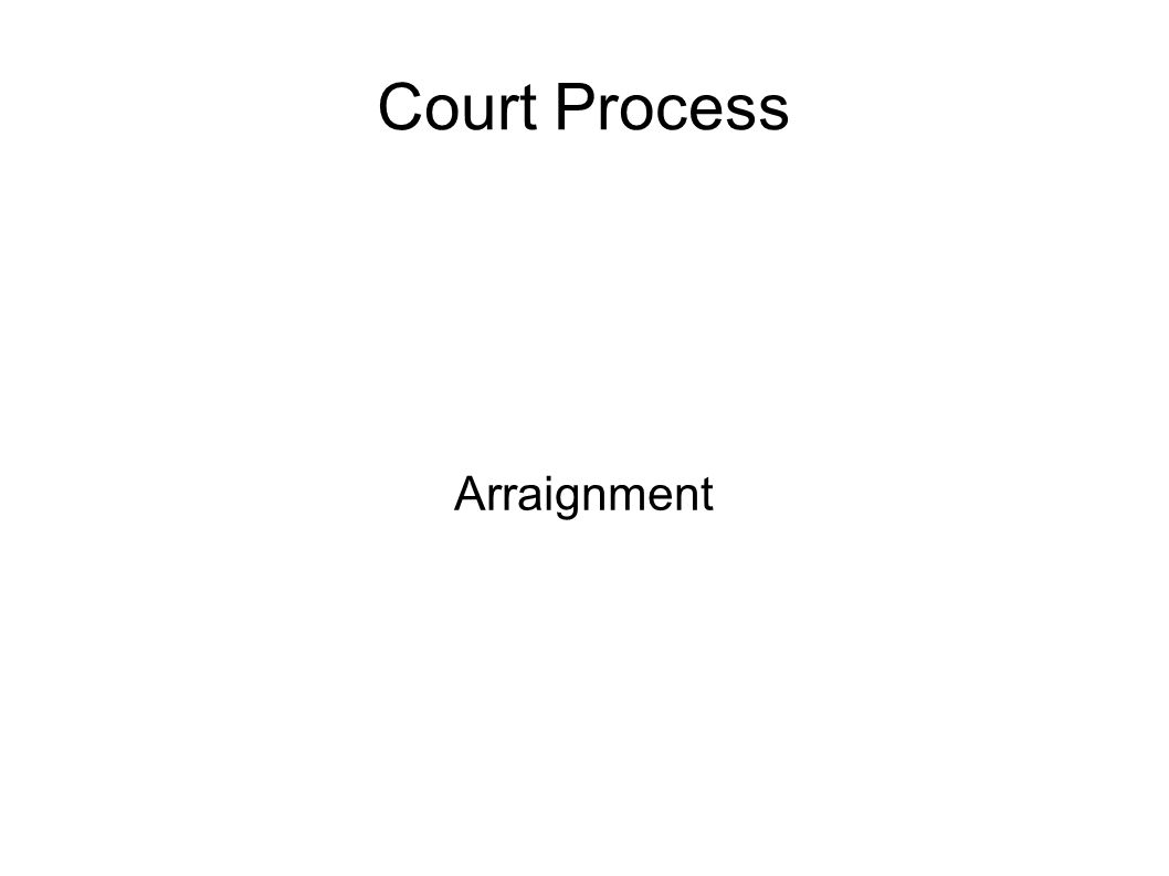Court Process Arraignment