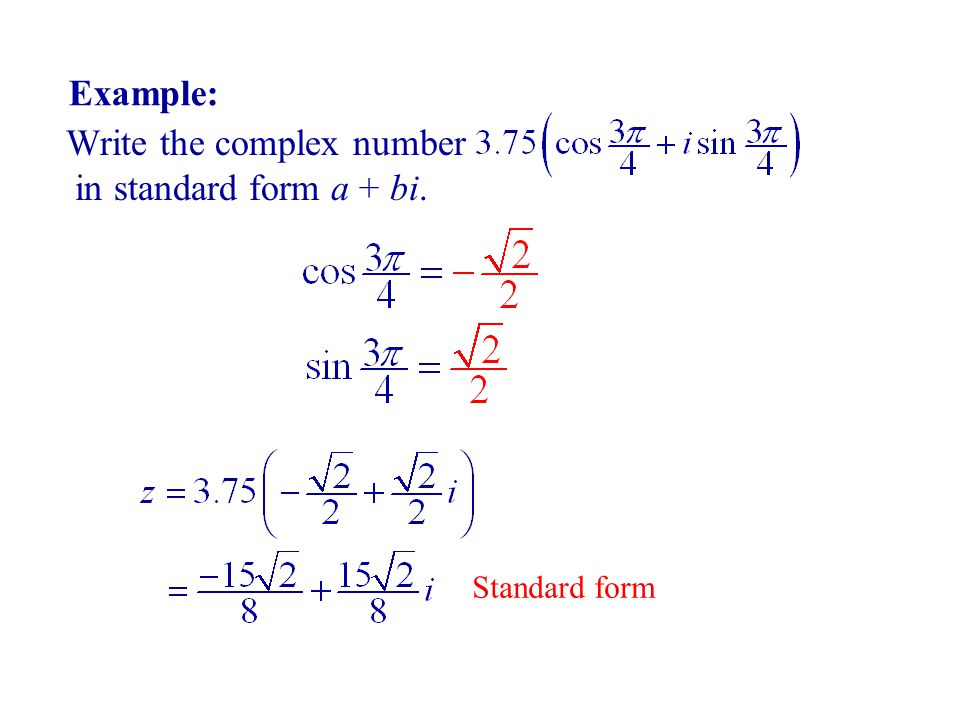 Complex Numbers. Complex number is a number in the form z = a+bi ...