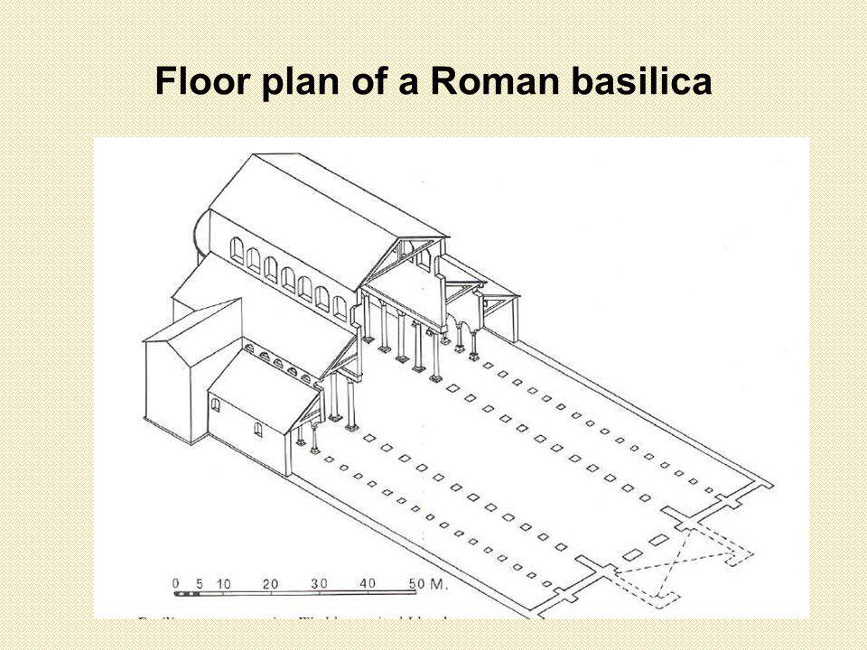 Floor plan of a Roman basilica