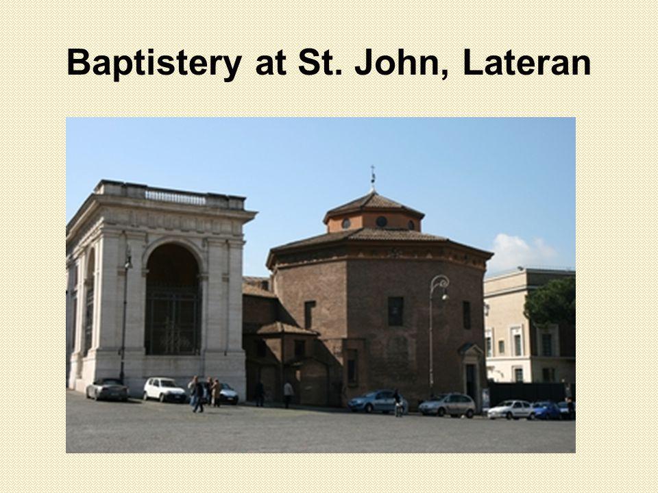 Baptistery at St. John, Lateran