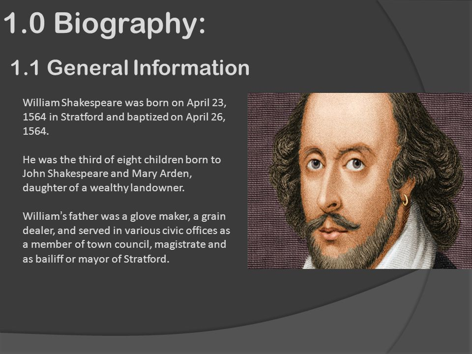 an insight to the controversial biography of william shakespeare Was shakespeare a good actor and you omit the origin of william shakespeare among the most controversial was an exchange on twitter about abortion and.