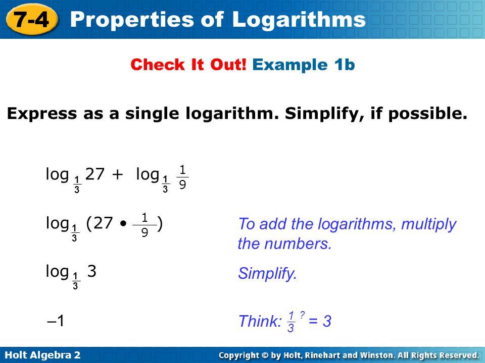 Printables Holt Algebra 2 Worksheets algebra 2 logarithm properties worksheet intrepidpath 7 4 a of logs worksheets