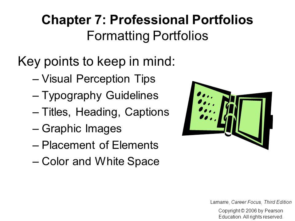 career portfolio definition