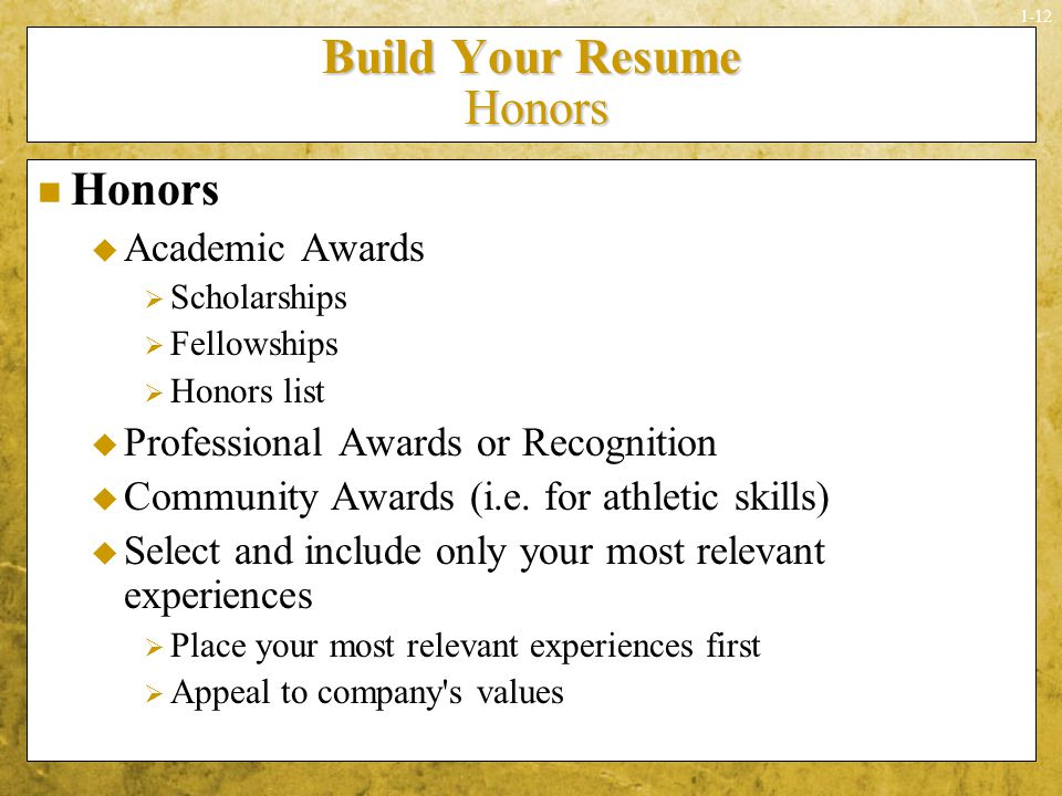 honors and awards resume hola klonec co
