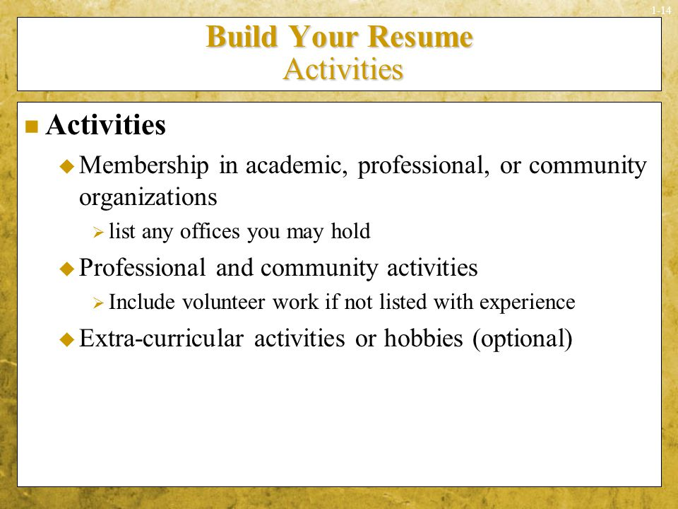 What are some professional organizations or volunteer groups to join to put on a resume?