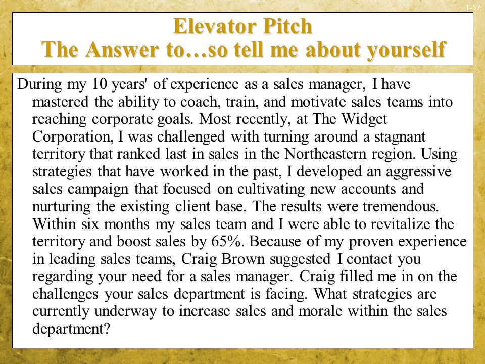 How To Write An Elevator Pitch Homework Writing Service