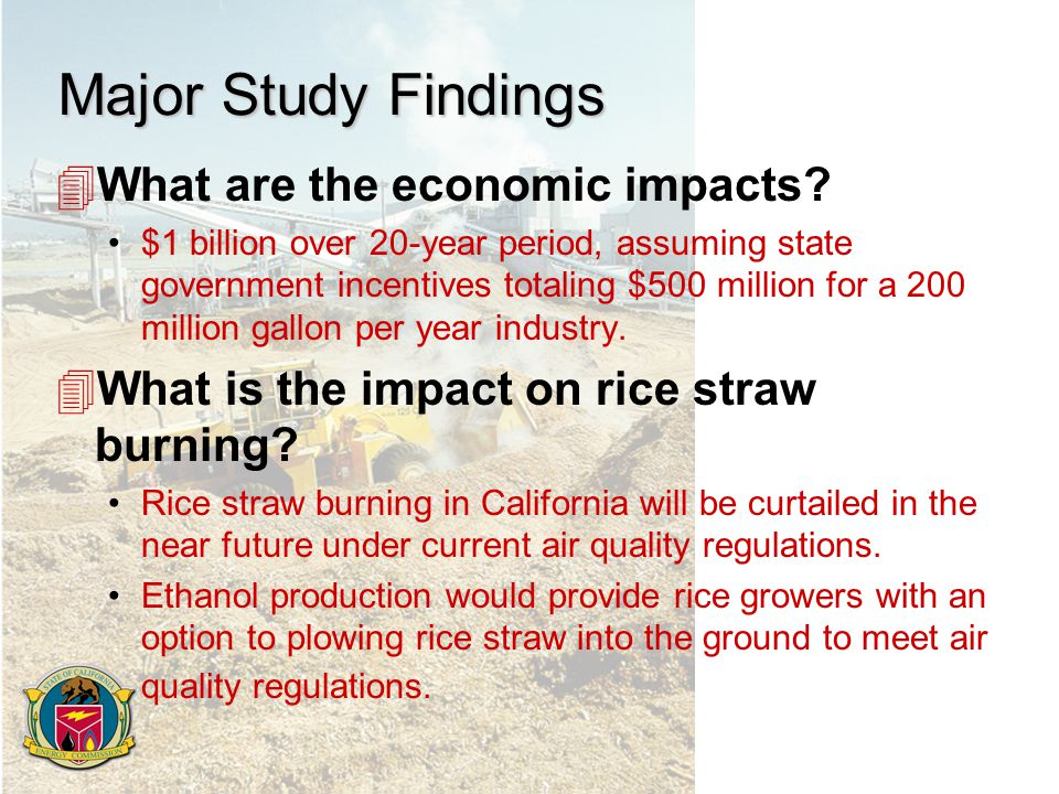 Major Study Findings 4What are the economic impacts.