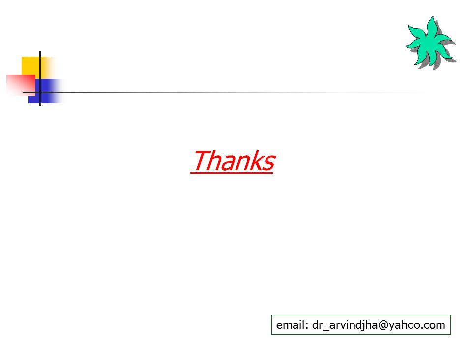 Thanks email: dr_arvindjha@yahoo.com